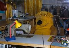 ...seen in a shop window in Düsseldorf (- Carsten -) Tags: city lamp yellow digital germany deutschland lampe iso400 machine gelb stadt alemania nrw stitching düsseldorf allemagne nordrheinwestfalen rheinland rhineland alemanha duitsland 2010 nähmaschine rebelxti canoneos400d schafenster