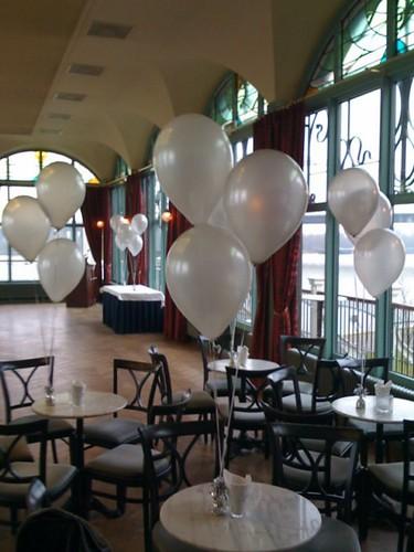 Tafeldecoratie 3ballonnen Zalmhuis Rotterdam