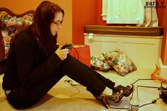 day ix- gamer girl (365daysofsarav) Tags: sexy girl gamer heels videogame 365 jonessoda