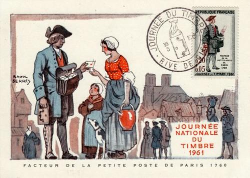 Facteur sur Paris 1760