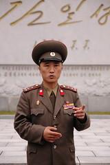 Colonel, DMZ (Lachlan Towart) Tags: travel portrait people man point soldier asia military korea colonel dmz northkorea dprk