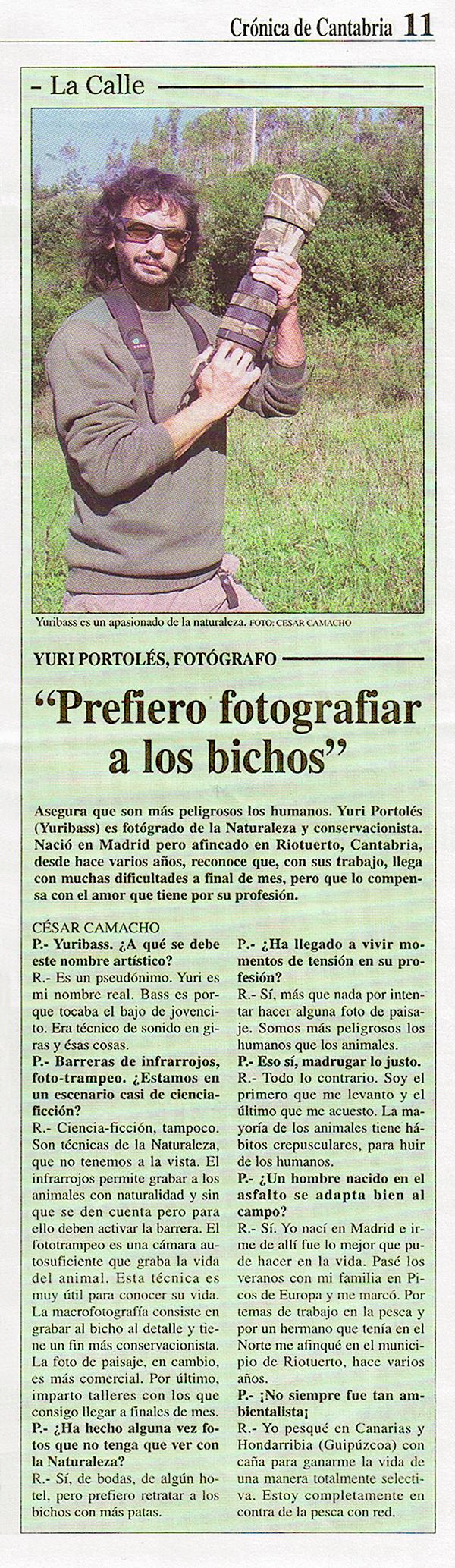 Entrevista Crónica Cantabria