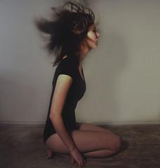 Nimble Hands. (shelbyhallimage.) Tags: life woman motion blur girl wall lady hair kneel carpet hall movement hands nikon floor breath move flip sit shelby around nimble d90 iwillneverloveanotherpersonthewayiloveyoukennyedmiston