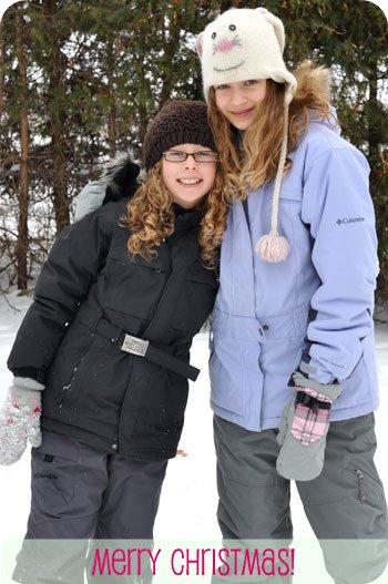 Sarah and Emma, Christmas 2010