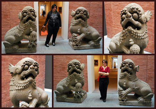 The Girls & The Giant Foo Dogs