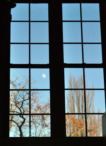 Moon in window at Great Escape