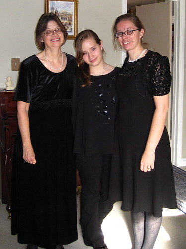 12/5/10: All dressed up to sing The Messiah