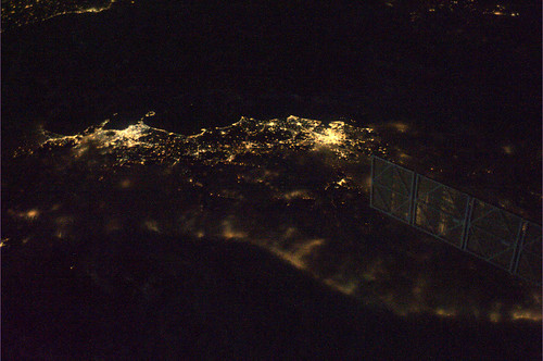 The centre of Italy, with Rome and Naples clear