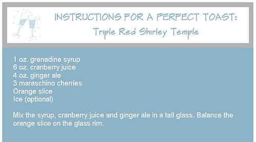 New Years Eve Mocktail Shirley Temple
