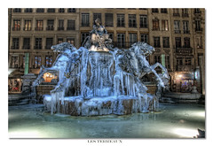 Les terreaux poque glaciale (Bartholdi) (3 tiff) Tags: france ice nikon lyon hdr glace placedesterreaux d90 trepied photomatix poselongue 3raw