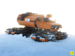 Indrik Sunflare (mahjqa) Tags: orange snow ice track power lego arctic technic vehicle functions blizzard antarctic tracked moc ornj studless indrik stilzkin