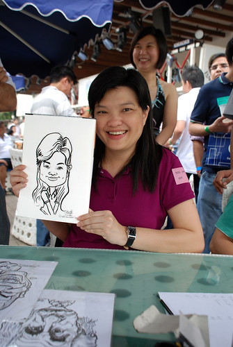 Caricature live sketching for VISA Beach Party 2010 -9
