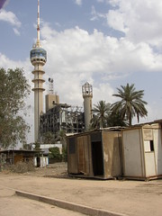 The Damaged TV Tower Building (Normann) Tags: tower iraq damage baghdad mast tvtower