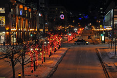 McGill College Ave. (caribb) Tags: christmas city winter urban canada night downtown montral quebec montreal qubec centrum metropolitan sophisticated ville centreville bustling
