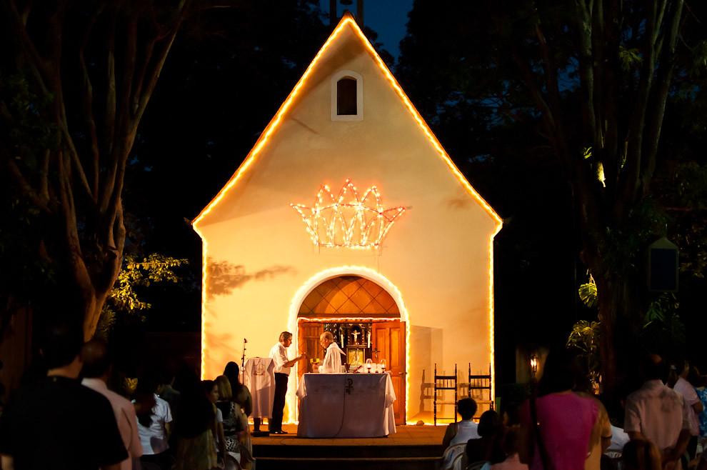 Misa de celebración de la fiesta de la Sagrada Familia de Jesús, María y José en el Santuario de Schoenstatt, corresponde a las primeras Misas realizadas del Año Litúrgico Católico 2011 (domingo entre el 25 de diciembre y el 1 de enero) (Elton Núñez - Asunción, Paraguay)