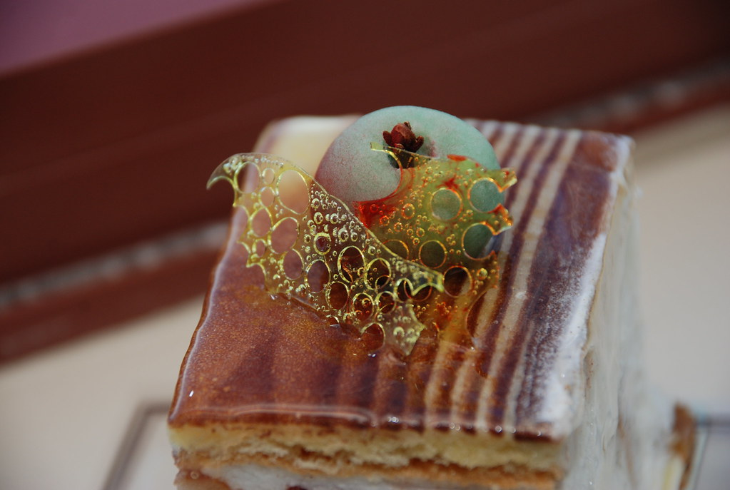 stunning apple marzipan and sugar slices on an apple tart from Charlottesville's Albemarle Baking Company