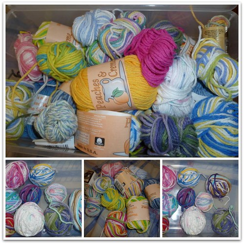 Lots of scrap yarn