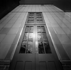 Biltmore Conservatory (alternatePhotography) Tags: glass garden nc holga doors fuji estate asheville north conservatory pinhole carolina diafine 100 biltmore acros pinholga