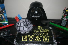 death star bday cake