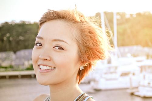 [Free Image] People, Women, Asian Women, Short Hair, 201101040900