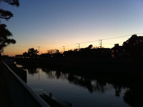 2010年12月31日の夕焼け