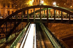 subway of light (mav_at) Tags: vienna wien bridge underground subway de ubahn fin brcke u4 nachtaufnahme siecle zollamtssteg onceeins kw53