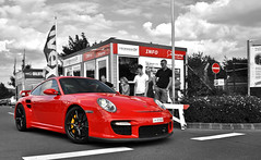 Red GT2 entering The Green Hell *Explored* (JespervdN) Tags: red porsche sickness supercar gt2 997 nrburgring quatar