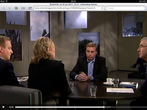 TV program Buitenhof - Jan 2, 2011