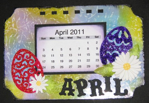 Ranger Technique Calendar - Distress Ink - April 011