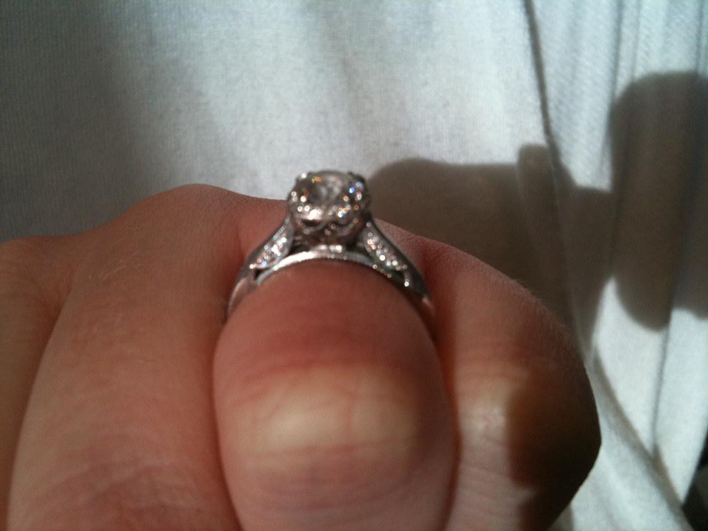 jaredsengagementringlmx wordpress jareds wedding rings My Tacori engagement ring and wedding band