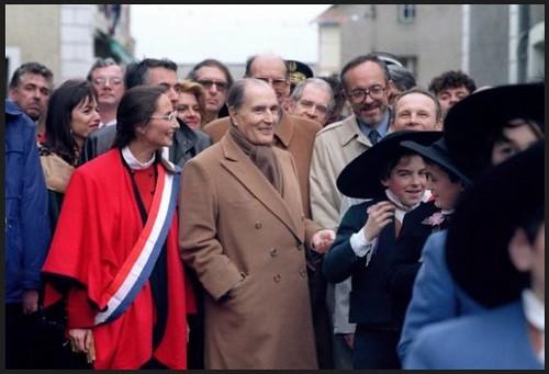 François Mitterrand et Ségolène Royal en 1992