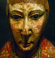 Virgin from Ger, detail with face of the Virgin