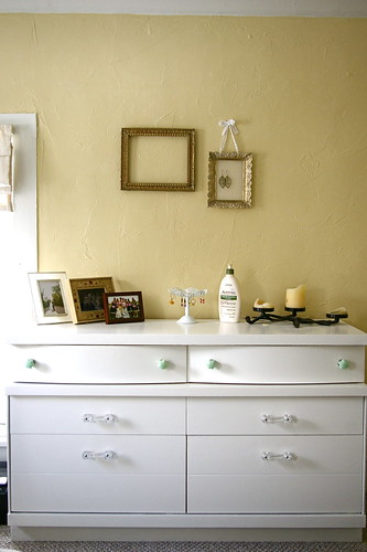 our refinished dresser.