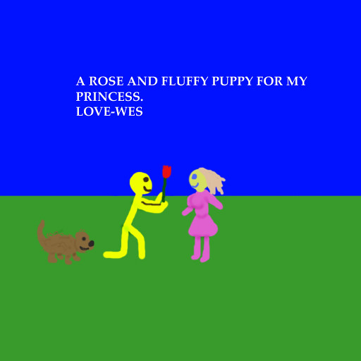 Rose and Puppy by Wesley