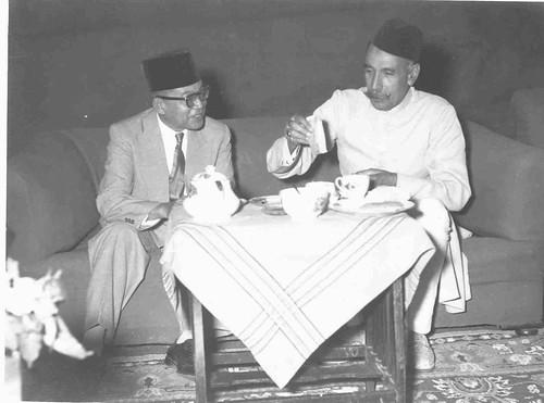 Tinku Abdul rahman with Nawab chhatari
