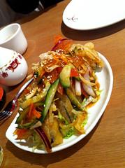 Thai style aubergine at Wasa, Edinburgh