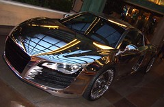 West Coast Customs' Tron Inspired Chrome Audi R8 (That Car) Tags: las vegas reflection mirror punk ride ryan low profile noel led exotic chrome lee finish ces pimp tron audi rims daft paintjob rimjob consumerelectronicshow friedlinghaus