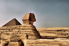 Egypt (adnan.a) Tags: sphinx day pyramid egypt archive cairo flicker          abualhole