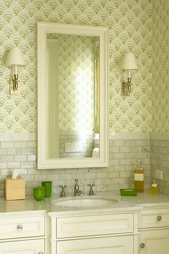 vanity backsplash, houzz, work well for main bath, by elizabeth dinkel design
