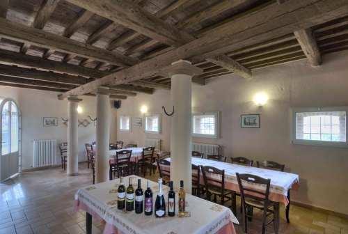 Sala ristorante dell'Agriturismo La Sabbiona