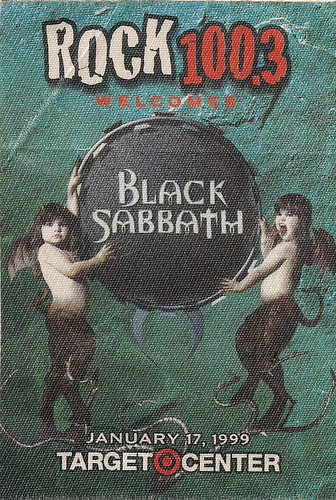 01/17/99 Black Sabbath/Pantera @ Minneapolis, MN (Promo Sticker)