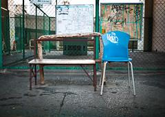 (Lee Basford) Tags: street urban art japan bench graffiti tokyo chair walk graf shibuya plastic   hiroo adek wanto