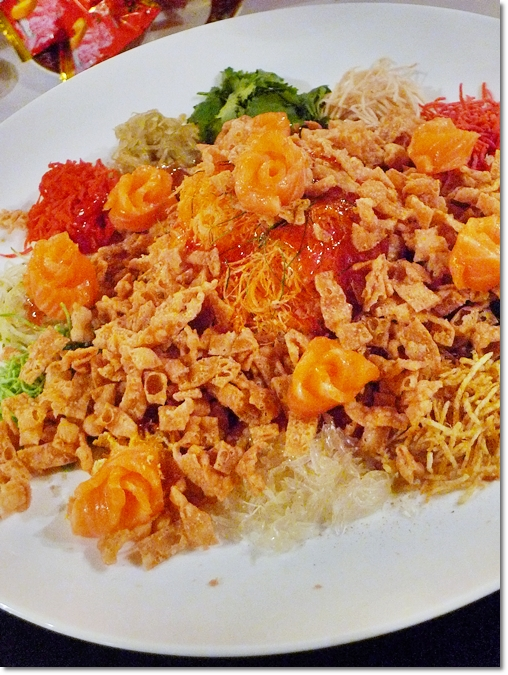 Yee Sang with Norwegian Salmon