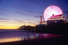 Pier (Jeffrey R Badger) Tags: ocean santa sunset landscape pier monica