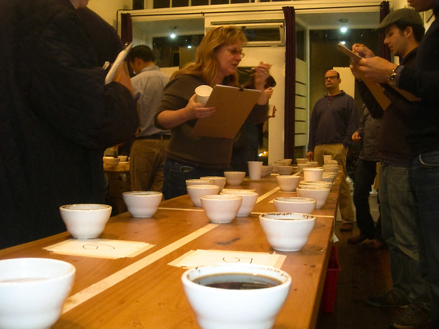 Coffee tasting at 18 Reasons, San Francisco