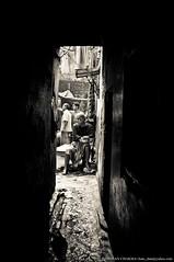 E N T R A N C E (Darshan Chakma) Tags: life door old people man dark path entrance lifestyle dhaka oldtown bangladesh bnw