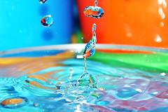 Splash! (Maria_RL) Tags: water agua waterdrop sony colores gota splash alpha multicolour a300