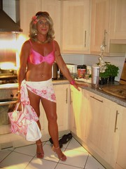 Sarong and Pink Bikini top (nicegurlnicki) Tags: pink beach tv highheels legs cd tgirl transgender bikini tranny blonde transvestite suntan trav crossdresser crossdress sarong tg stilettos nicegurlnicki