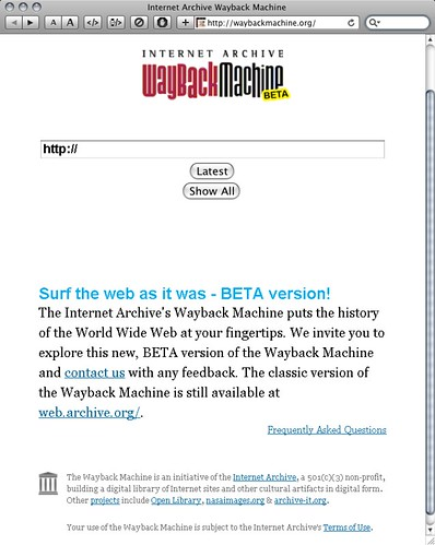Wayback machine beta