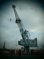 Crane (Seanathon) Tags: boat ship historic portsmouth aircraftcarrier arkroyal dockyard hmsvictory